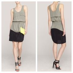 """Alexander Wang Green Silk Dress 2 % authentic, brand new w/o tags. Size 2. Features a draped bodice overlay and a scoop neck. Gathered elastic at drawstring waist. Asymmetrical draping at skirt. Side slit. 1.5"""" straps. A great find!! Original price $525 + tax. *Excluded from bundle discounts*   39"""" from shoulder to hem Silk crepe 100% silk Dry clean Imported Alexander Wang Dresses"""