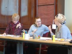Deep in discussion at Become a Better Copywriter in a Day   Wordtree Copywriting Courses