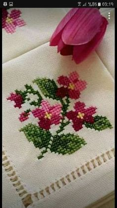 The most beautiful cross-stitch pattern - Knitting, Crochet Love Cross Stitch Letters, Cross Stitch Rose, Cross Stitch Borders, Modern Cross Stitch, Cross Stitch Flowers, Cross Stitch Designs, Cross Stitching, Stitch Patterns, Embroidery Flowers Pattern