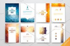 Set of 9 Christmas brochures by Palau on @creativemarket