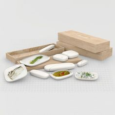 London designers PostlerFerguson presented this conceptual packaging for an airline meal at Belgrade Design Week in 2011.