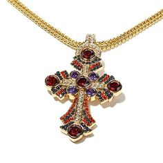 Real Collectibles by Adrienne® Jeweled Cross Pendant