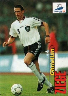 Christian Ziege of Germany. 1998 World Cup Finals card.