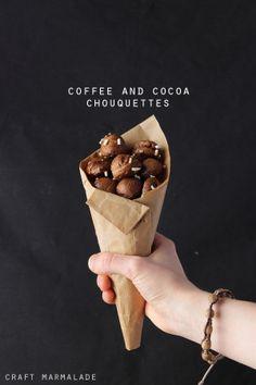 chouquettes al caffè e cacao