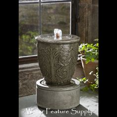 Come see us at https://www.waterfeaturesupply.com/waterwalls/tabletop-water-fountains.html for more information on these wonderful tabletop fountains.    This tabletop waterfall will look great in any location you may have.