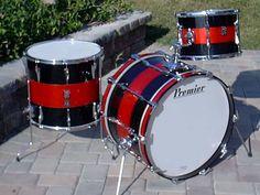 Early 70's Premier drum kit.