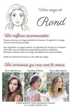 Conseils astuces Visage rond  #wedding #hair #bride #face