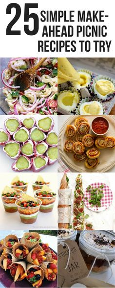 25 simple make-ahead picnic recipes to try! 25 simple make-ahead picnic recipes to try! Best Picnic Food, Healthy Picnic Foods, Vegetarian Picnic, Healthy Snacks, Healthy Recipes, Picknick Snacks, Camping Snacks, Tailgating Recipes, Tailgate Food