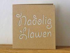 Nadolig Llawen card (white) £3.00