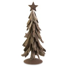 "Woodland Tree Decor - Driftwood tree with a star on top, large 32.5""H x 11""D for $78.95 (small, 22""H x 10""D), sold out) at Joss and Main"