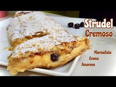 STRUDEL CREMOSO Marmellata Crema e Amarene FACILE E VELOCE 🥖CREAMY STRUDEL - YouTube Strudel, Greek Recipes, Italian Recipes, Afternoon Tea Parties, Beautiful Fruits, Cannoli, Party Desserts, Food Photography, Donuts