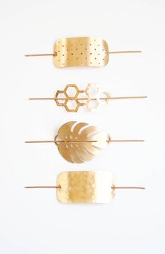 Handmade Brass Hairpins | ShopRareBird on Etsy