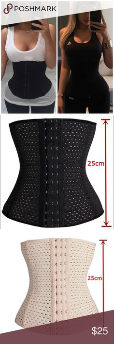 WAIST TRAINER CORSET • 3 sets of hooks • covered boning in front and back for added support •Item Torso Length: about 9.8 Inch(25cm). •specify your color choice in comments when purchasing   Size Chart:  Small:Fit Waist 24.5-26.7inch;  Medium:Fit Waist 26.7-29inch;  Large:Fit Waist 29-31.5inch;  X-Large:Fit Waist 31.5-33.8inch;  XX-Large:Fit Waist 33.8-36.2inch;  XXX-Large:Fit Waist 36.2-38.5inch;  XXXX-Large:Fit Waist 38.5-40.9inch;  XXXXX-Large:Fit Waist 40.9-43.3inch;  XXXXXX-Large:Fit…