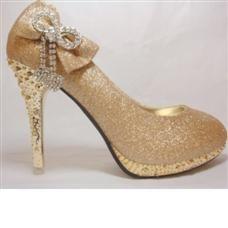 LoverLong Round Toe Spike Heel Wedding Shoes
