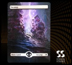 stratastrike.deviantart.com #161 Altered MTG - Swamp by stratastrike
