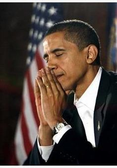 """Barry """"praying"""" for the camera and we all know to whom and for whom."""