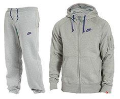 812f4d2ba2a Nike Mens Foundation 2 Full tracksuit Hoodie Fleece Top Bottom Pant (Large