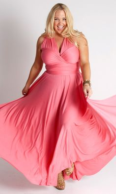 anastasia maxi dress from SWAK designs. love the pink - i think i'd wear it strapless.