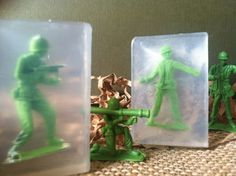 Stocking stuffer for the boys. I can pretty much guarantee they will want to wash their hands.    Soldiers Soap Kids Soap Party Favors Army SoldierToy by BBSoaps, $1.65