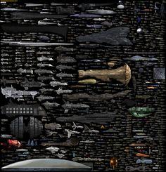 【これはすごい】海外SF作品に登場する宇宙船をずらりと並べたサイズ比較図 - IRORIO(イロリオ)