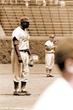 Jackie Robinson and Pee Wee Reese - Brooklyn Dodgers