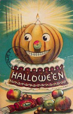 Vintage pumpkin card