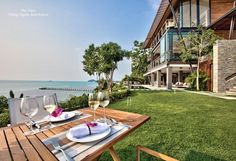The View built into a lush, forested cliffside overlooking an unspoilt sand-swept cove on Samui's secluded southwest coast, the View lives up to its name with 180 degree vistas of island-peppered ocean splendour from almost every room in the villa. Theview #villa #samui #luxury #island See Promotion 25% OFF www.luxuryvillasandhomes.com/The-View.html