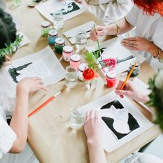 Throw a paint by numbers party complete with free downloads and labels for paint!