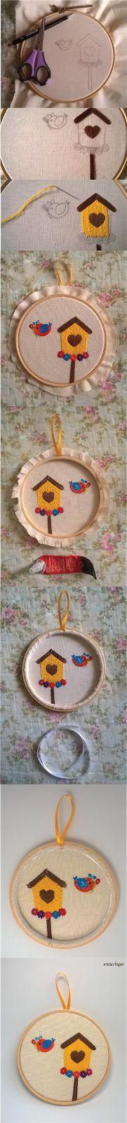 Passo a passo de bordado em quadro de bastidor #artesanato #bastidor #bordado…