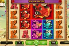 Whats hot: The art style for this slot is cute and bright, the sound design keeps the game exciting and it's great across multiple platforms.  Whats not so hot: With 40 pay lines it's pretty easy to watch your budget slip away, the loud sounds can be kind of annoying for long play sessions, short advice: play with a decent bankroll.  Graphics - 98% Gameplay - 99% Bonuses - 97% Value - 98%