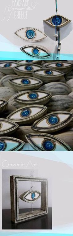 Evil Eye home decor items, Evil eye ceramic art, evil eye sculpture, evil eye for the home, interior design with evil eye