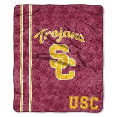 USC Trojans Southern Cal Sherpa 50 x 60 Jersey Throw Blanket
