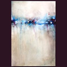 201210-01 / abstract acrylic painting art - vertical gallery wrapped canvas grey blue maroon 24x36 - kyla dorey kydo. $400.00, via Etsy.