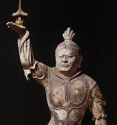 "Japanese National Treasure, One of The Four Devas named ""Tamon-Ten "" 多聞天(東大寺戒壇院)"