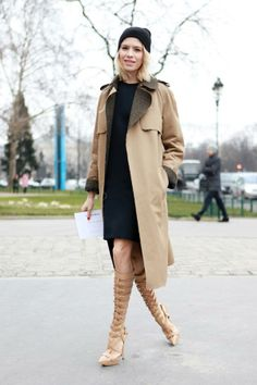 Paris Street Style AW 2013/14  Get the look by Versace.....