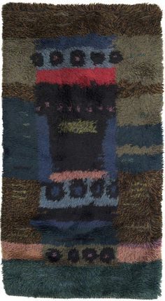 Arne Lindaas for Sellgren - Forest Floor Rya Rug - 1959 Textiles, Textile Patterns, Rya Rug, Shaggy Rug, Rug Hooking, Woven Rug, Floor Rugs, Rugs On Carpet, Printing On Fabric