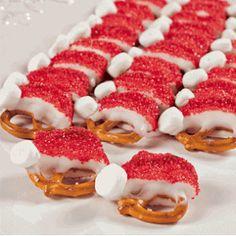 MAGIC SANTA HAT Pretzels 36   Christmas  Stocking by SweetBitesMs, $12.00