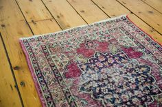 2x2.5 Antique Persian Kerman Rug Mat
