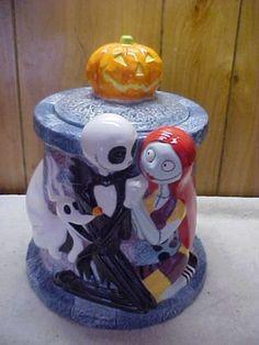 Disney Jack Sally Nightmare Before Christmas Cookie jar
