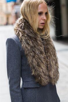 High Tech Faux Fur Collar by Emerson Fry
