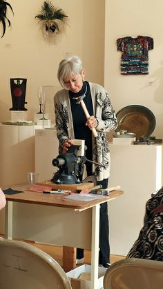 The Art of Metalforming with Betty Helen Longhi . I took Betty's workshop and made a number of beautiful new gold beads.