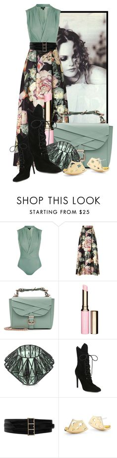 """""""Long Skirt For Fall (3)"""" by queenrachietemplateaddict ❤ liked on Polyvore featuring Topshop, Miss Selfridge, Marina Hoermanseder, Clarins, VOJD Studios, Kendall + Kylie, Oscar de la Renta and Elizabeth and James"""