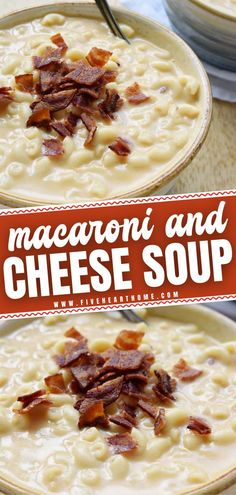 Get ready for something creamy, cheesy, and decadent! Both kids and adults will love this hearty and filling Macaroni & Cheese Soup for a winter dinner. Topped with bacon, it is the ultimate comfort food that will soon become a favorite. Plus, it is easy enough to make!