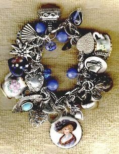 victorian charm bracelet | Victorian Tea Time Charm Bracelet...
