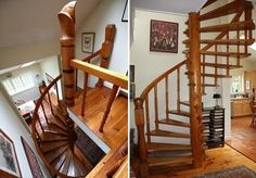 Read about Hans Hokanson, the Swedish-born sculptor who made this amazing wooden spiral staircase - click http://easthamptonstar.com/Habitat/2016804/Legacy-Woodworking-Master