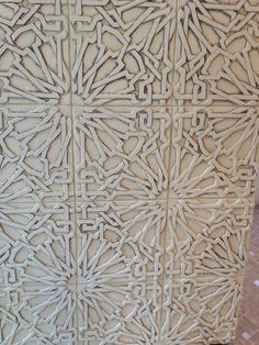 Gorgeous pattern, though probably a nightmare to clean if those are grooves! beautiful moroccan tiles