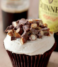 Chocolate Stout Cupcake with Vanilla Stout Buttercream. This recipe is from The Butch Bakery NY cookbook, which, by the way, is fantastic!! Great when baking for men -- although I love them, too!