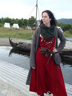 missximpossible: At Lofotr viking festival. Down at the pier, with the museum's hov is in the background.Photo by annethearcher.