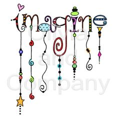 Imagine Dangles Word Art is an original illustration created by hand. Totally whimsical with swirls, patterns, stars, and most fun of all are the dangles. Tangle Doodle, Tangle Art, Doodles Zentangles, Zen Doodle, Zentangle Patterns, Word Doodles, Doodle Lettering, Creative Lettering, Doodle Art Letters
