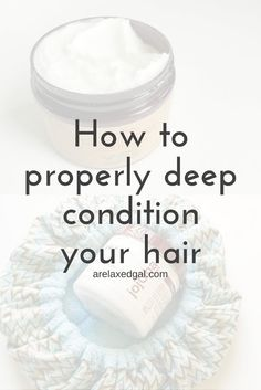 Deep conditioning your hair doesn't need to take a lot of work. It can be done in four simple steps whether your hair is. Hair Conditioning Treatment, Deep Conditioning Hair, Natural Hair Conditioner, Deep Conditioner, Natural Hair Tips, Natural Hair Styles, Natural Things, Going Natural, Natural Curls